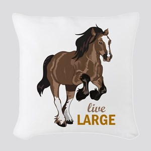 LIVE LARGE Woven Throw Pillow
