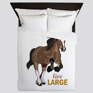 LIVE LARGE Queen Duvet
