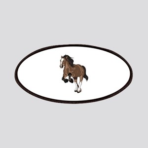 REARING DRAFT HORSE Patches