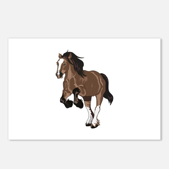 REARING DRAFT HORSE Postcards (Package of 8)