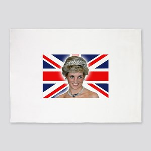 Stunning! HRH Princess Diana Pro Ph 5'x7'Area Rug