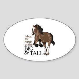 I SHOP AT BIG AND TALL Sticker