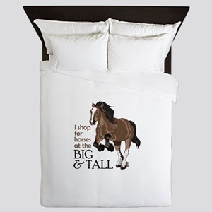 I SHOP AT BIG AND TALL Queen Duvet