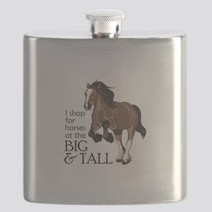 I SHOP AT BIG AND TALL Flask