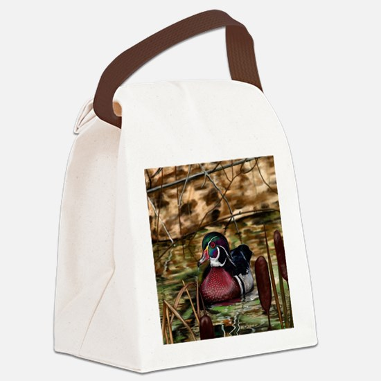 Cute Duck hunting Canvas Lunch Bag