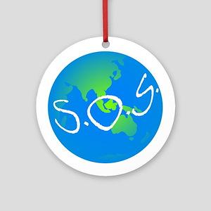 S.O.S. Ornament (Round)