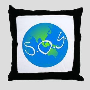 S.O.S. Throw Pillow