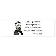 Henry David Thoreau 18 Bumper Bumper Sticker