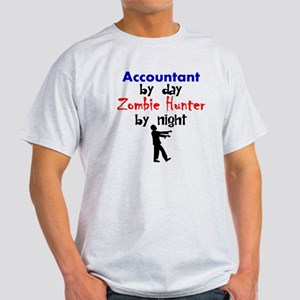 Accountant By Day Zombie Hunter By Night T-Shirt