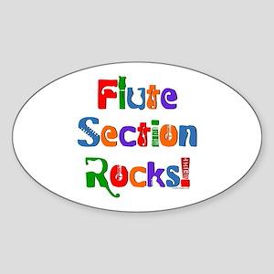 Flute Section Rocks Sticker