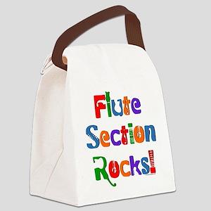 Flute Section Rocks Canvas Lunch Bag