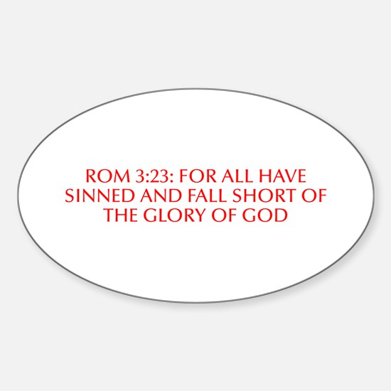Rom 3 23 for all have sinned and fall short of the
