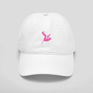 Pink Pole Vaulter Silhouette Baseball Cap