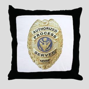 Process Server Throw Pillow