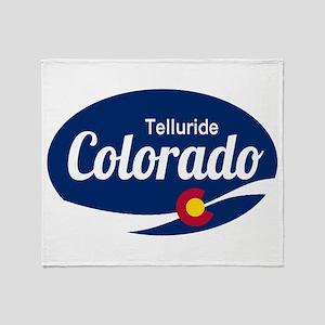 Epic Telluride Ski Resort Colorado Throw Blanket