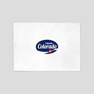 Epic Telluride Ski Resort Colorado 5'x7'Area Rug