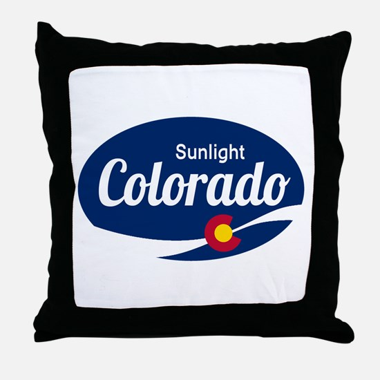 Epic Sunlight Ski Resort Colorado Throw Pillow