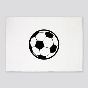 Large Soccer Ball 5'x7'Area Rug