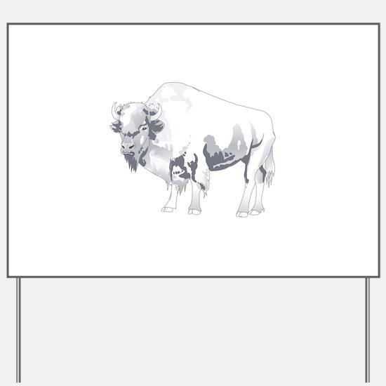 White Buffalo Yard Sign