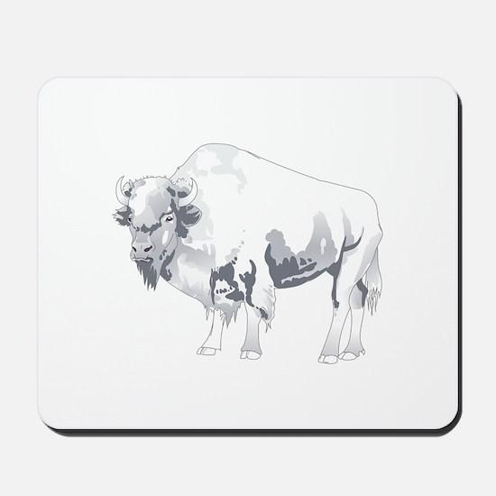 White Buffalo Mousepad