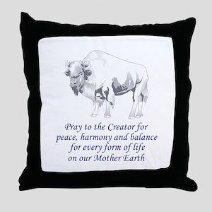 Native American Symbolism Throw Pillow