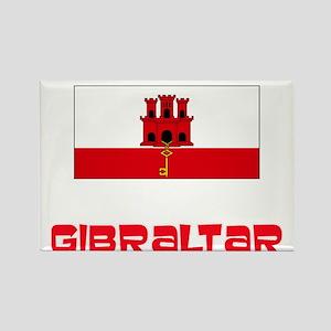 Gibraltar Flag Retro Red Design Magnets