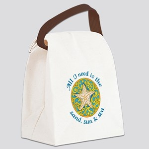Sand, Sun & Sea Canvas Lunch Bag