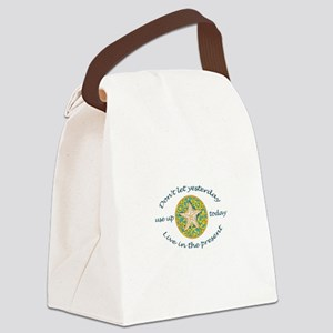 Live In Present Canvas Lunch Bag