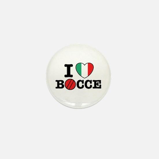 I Love Bocce Mini Button