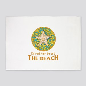 Rather Be At Beach 5'x7'Area Rug
