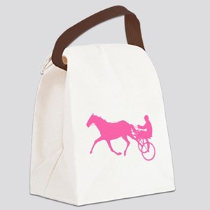 Pink Harness Racing Canvas Lunch Bag
