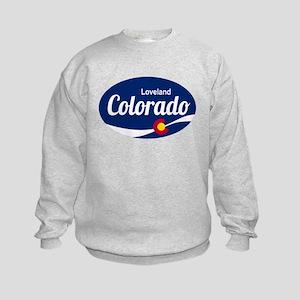 Epic Loveland Ski Resort Colorado Kids Sweatshirt