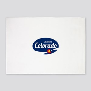 Epic Loveland Ski Resort Colorado 5'x7'Area Rug