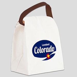 Epic Loveland Ski Resort Colorado Canvas Lunch Bag