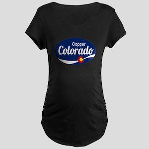 Epic Copper Mountain Ski Resort Maternity T-Shirt