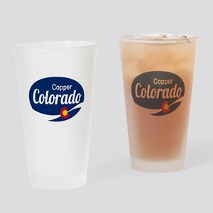 Epic Copper Mountain Ski Resort Col Drinking Glass