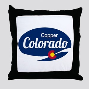 Epic Copper Mountain Ski Resort Color Throw Pillow