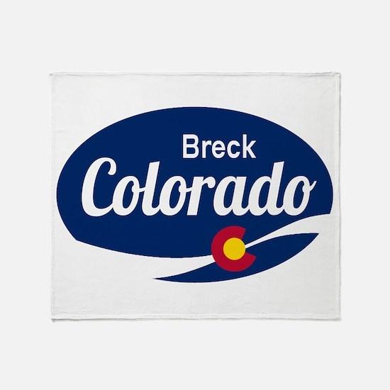 Epic Breckenridge Ski Resort Colorad Throw Blanket