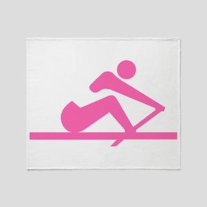Pink Crew Throw Blanket