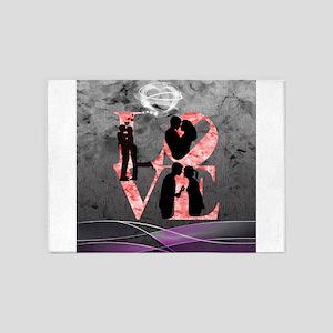Love-Silhouette 5'x7'Area Rug