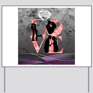 Love-Silhouette Yard Sign