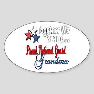 National Guard Grandma Oval Sticker