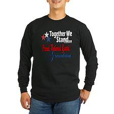 National Guard Grandma Long Sleeve Dark T-Shirt