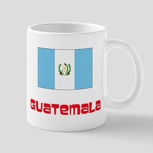 Guatemala Flag Retro Red Design Mugs