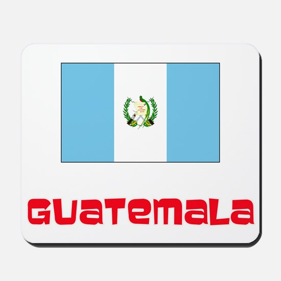 Guatemala Flag Retro Red Design Mousepad