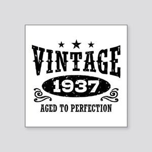 "Vintage 1937 Square Sticker 3"" x 3"""