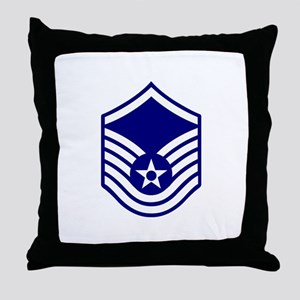 USAF E-7 MASTER SERGEANT Throw Pillow