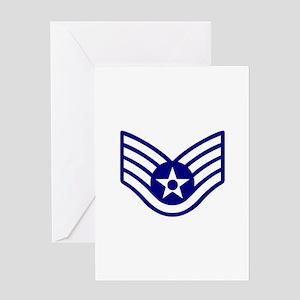 USAF E-5 STAFF SERGEANT Greeting Cards