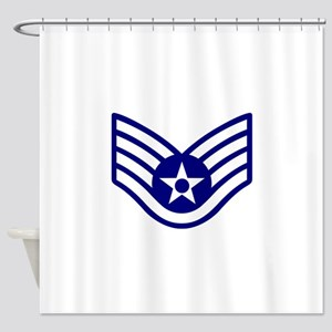 USAF E-5 STAFF SERGEANT Shower Curtain
