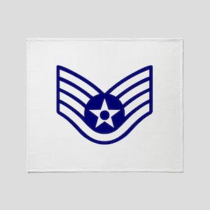 USAF E-5 STAFF SERGEANT Throw Blanket